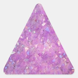 Sparkly Pinky Purple Aura Crystals Triangle Sticker