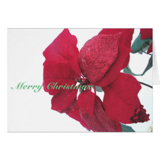 Sparkly Poinsettia Greeting Card