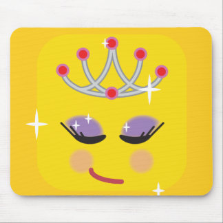 Sparkly Princess Emoji Mouse Pad