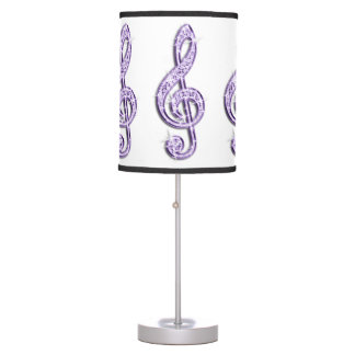Sparkly Purple/ Lilac Music Note Table Lamps