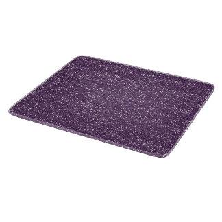 Sparkly Purple & Silver Glitter Cutting Board