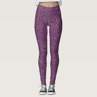 Sparkly Purple Sparkles Leggings