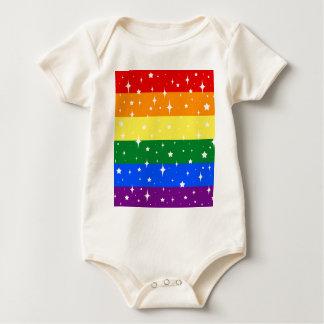 Sparkly Rainbow Flag Baby Bodysuit