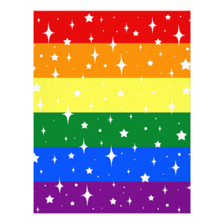 Sparkly Rainbow Flag Letterhead