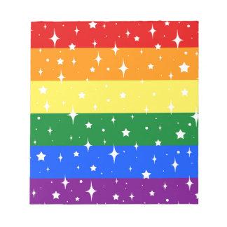 Sparkly Rainbow Flag Notepad
