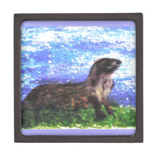 Sparkly River Otter Premium Jewelry Box