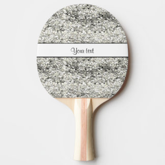 Sparkly Silver Glitter Ping-Pong Paddle