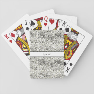 Sparkly Silver Glitter Poker Deck