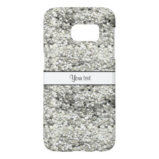 Sparkly Silver Glitter Samsung Galaxy S7 Case