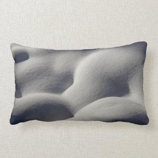 Sparkly Snow Mounds Abstract Nature Photography Lumbar Pillow