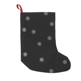 Sparkly Snowflakes Small Christmas Stocking