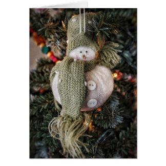 Sparkly Snowman Holiday Card