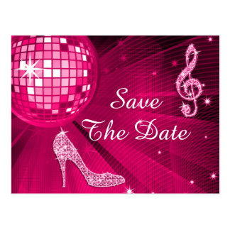 Sparkly Stiletto Heel 65th Birthday Save The Date Postcard