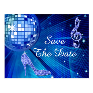 Sparkly Stiletto Heel 65th Birthday Save The Date Postcard