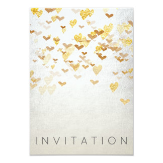 Sparkly Surprise Party Invitation Gold Silver