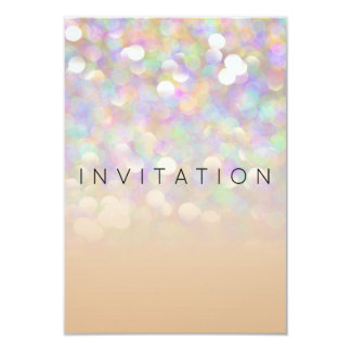 Sparkly Surprise Party Invitation Ivory Silver