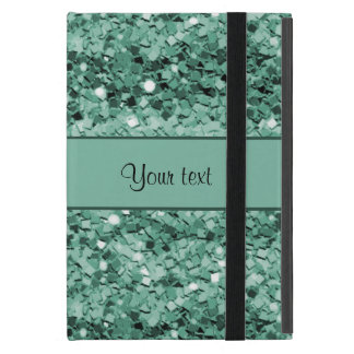 Sparkly Teal Glitter iPad Mini Cover