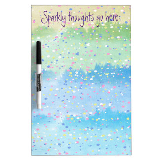 Sparkly Thoughts Dry Erase Board