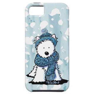 Sparkly Winter Westie iPhone 5 Cases