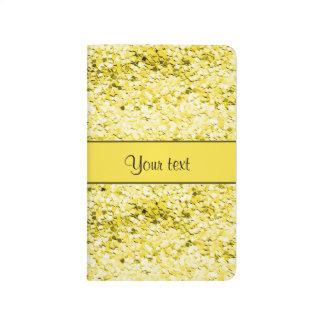 Sparkly Yellow Glitter Journals