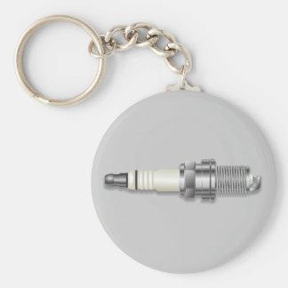 Sparkplug Basic Round Button Keychain