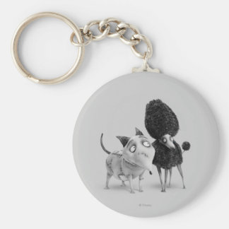 Sparky and Persephone Basic Round Button Keychain
