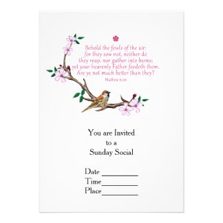 "Sparrow 5"" X 7"" Invitation Card"
