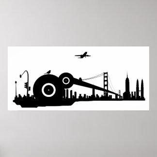 Sparrow city plane poster