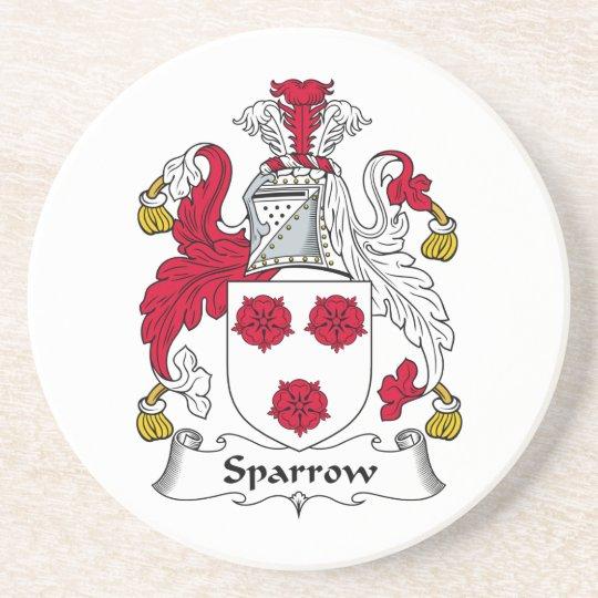 Sparrow Family Crest Coaster