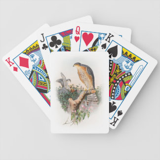 Sparrow Hawk John Gould Birds of Great Britain Bicycle Playing Cards