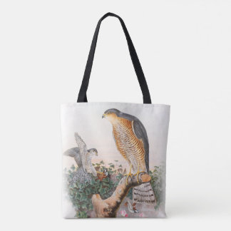 Sparrow Hawk John Gould Birds of Great Britain Tote Bag