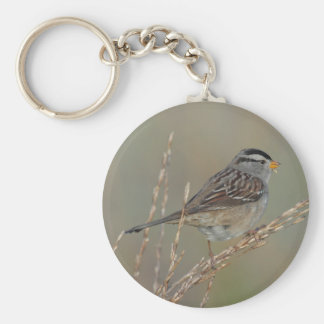 Sparrow in the Grass 2 Keychain