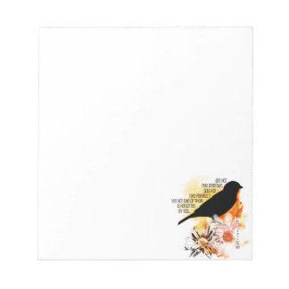 Sparrow Not Forgotten Notepad