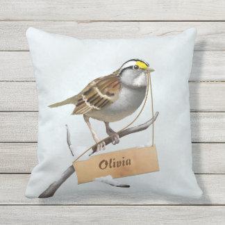 Sparrow Outdoor Pillow