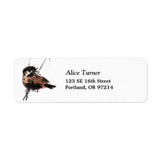 Sparrow Return Address Label