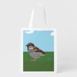 Sparrow Reusable Grocery Bag