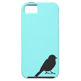 Sparrow silhouette blue iPhone 5S case