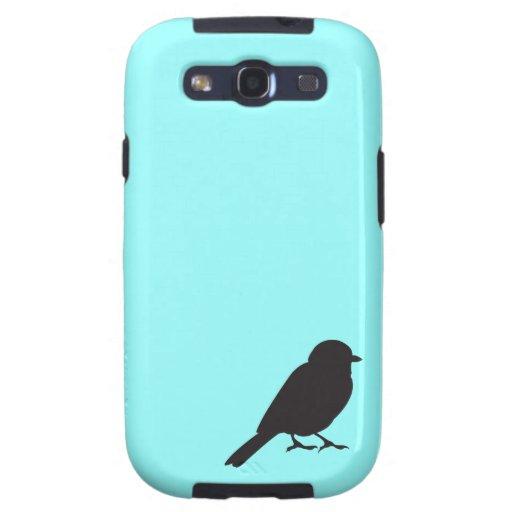 Sparrow silhouette chic blue swallow bird galaxy SIII case