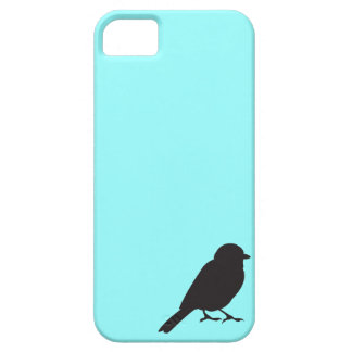 Sparrow silhouette chic blue swallow bird iPhone 5 cover