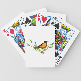 Sparrow Sitting On Branch Bicycle Playing Cards