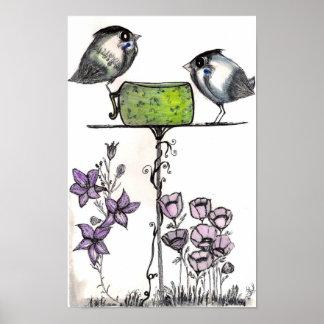 Sparrow Teatime! Fine ART Print