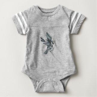 Sparrow Text Low Polygon Baby Bodysuit
