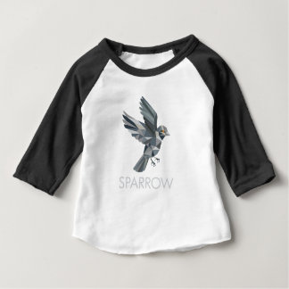 Sparrow Text Low Polygon Baby T-Shirt