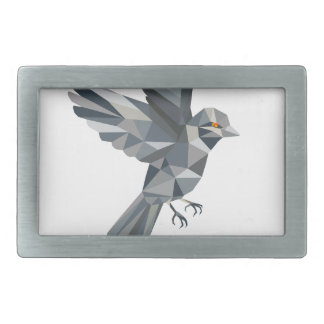 Sparrow Text Low Polygon Belt Buckle