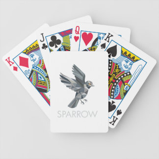 Sparrow Text Low Polygon Bicycle Playing Cards