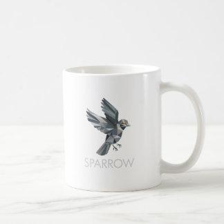 Sparrow Text Low Polygon Coffee Mug