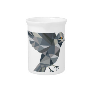 Sparrow Text Low Polygon Pitcher