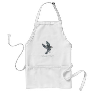 Sparrow Text Low Polygon Standard Apron