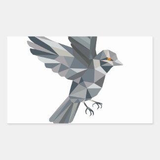 Sparrow Text Low Polygon Sticker