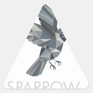 Sparrow Text Low Polygon Triangle Sticker
